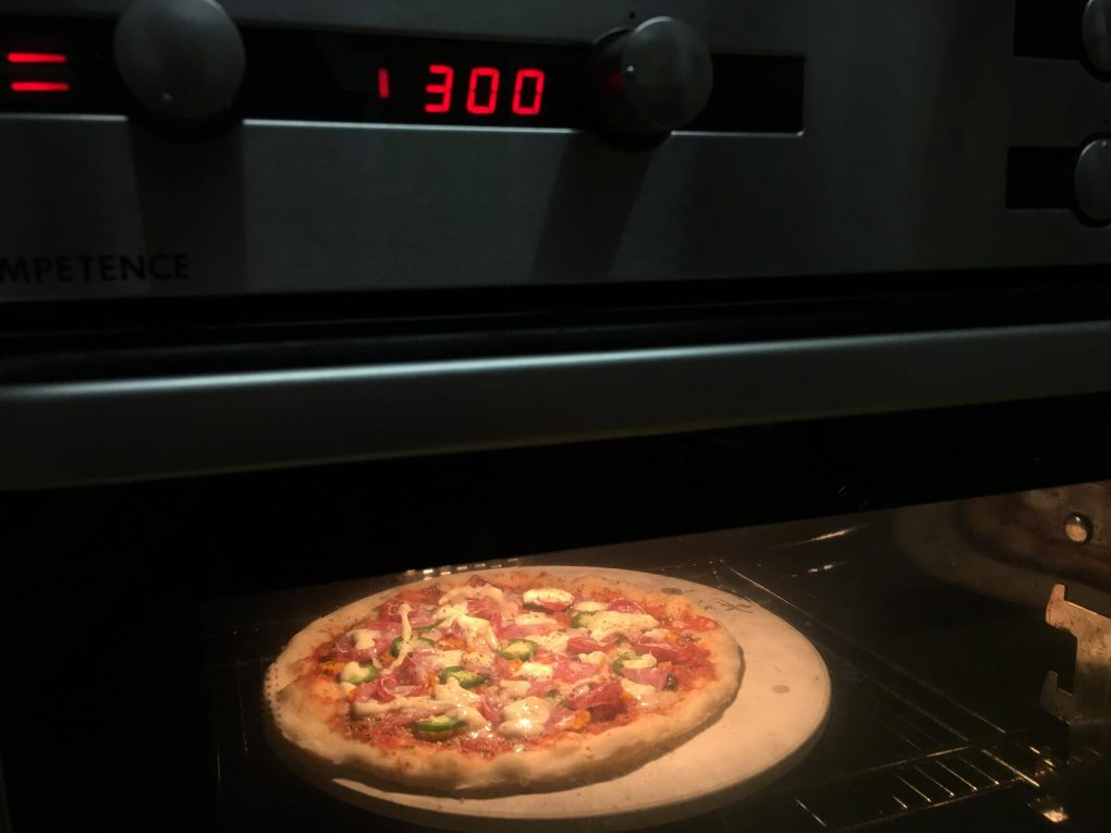 Bake Pizza in the oven