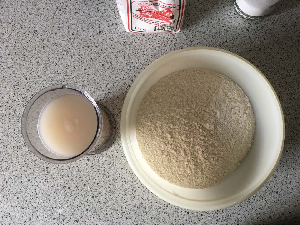 Pizza dough yeast and flour